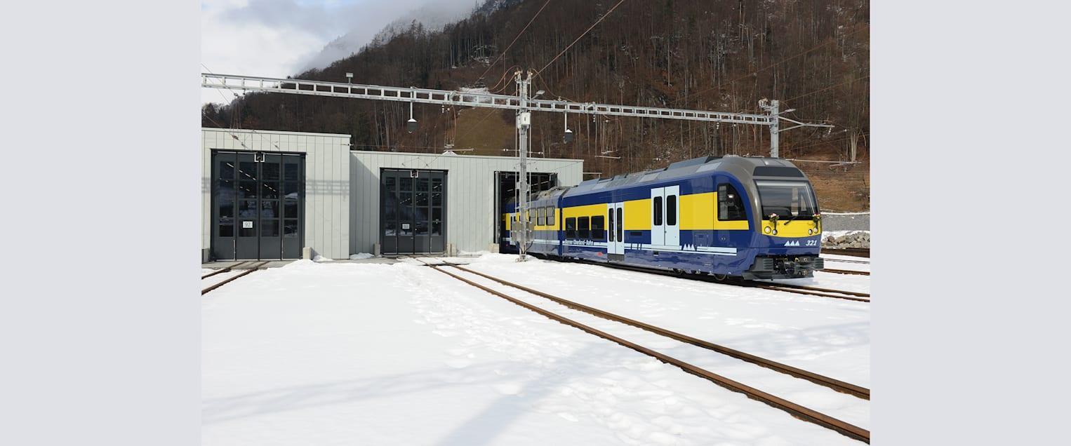 Triebzug Depot Zweiluetschinen