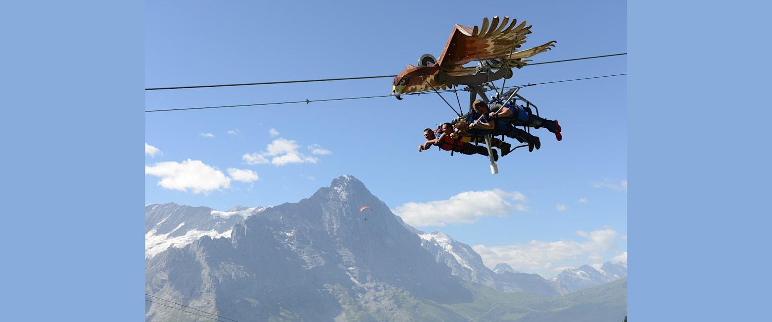 Glider mit Eiger