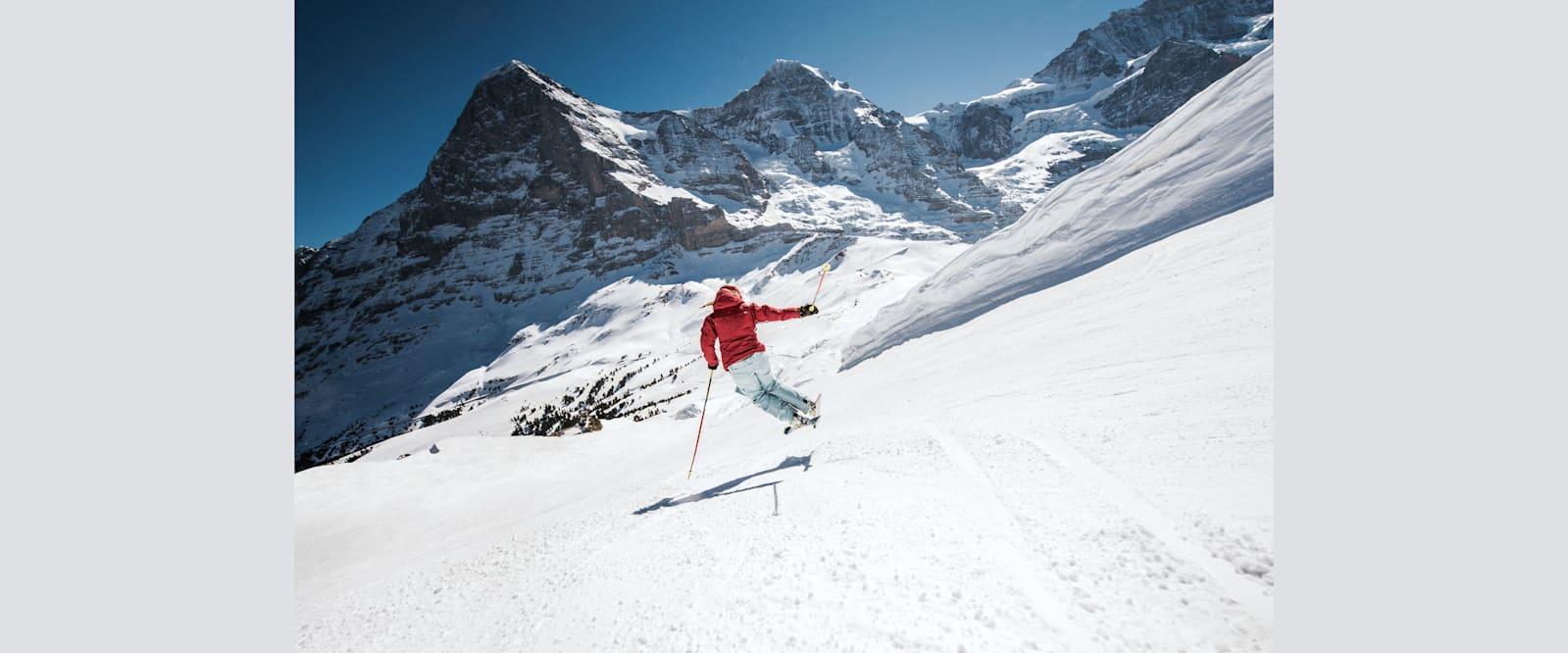 Kleine scheidegg skifahren eiger moench winter 02 01