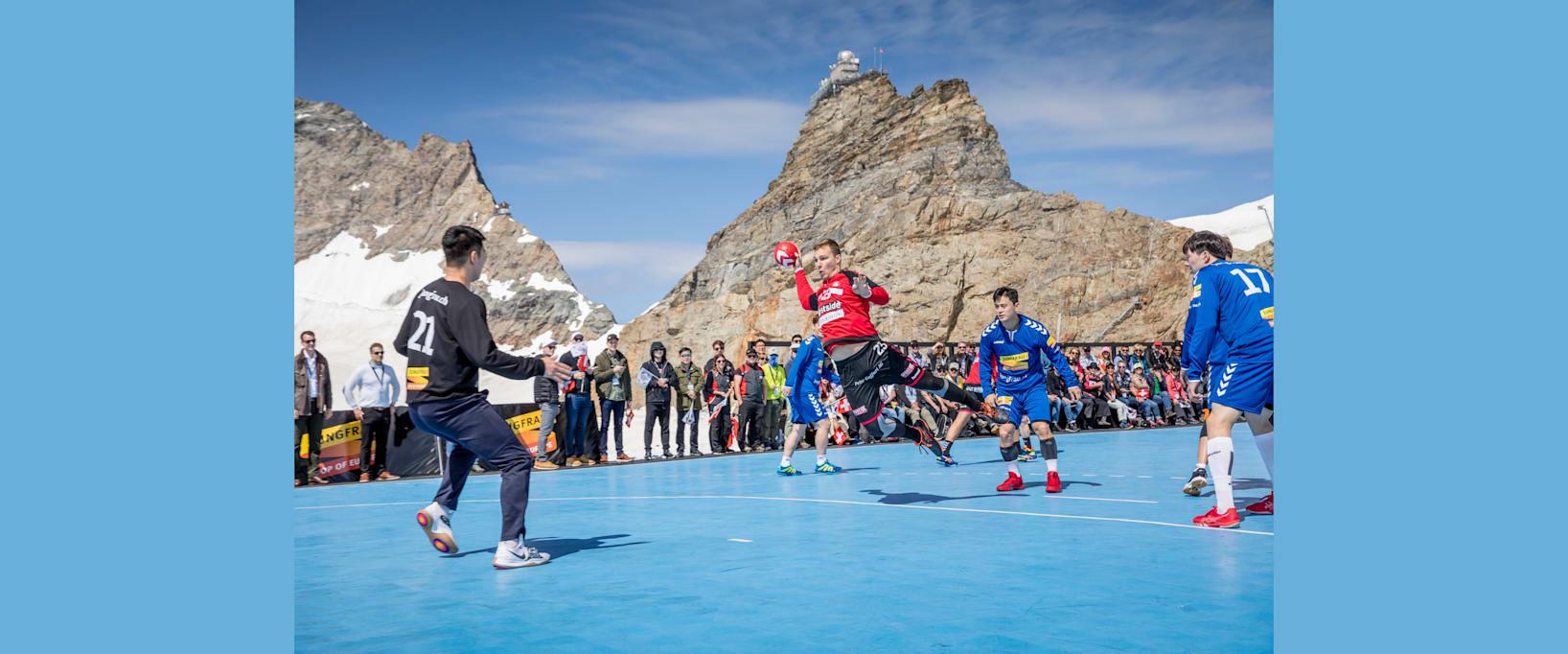 Handball 2 Handballmatch Jungfraujoch