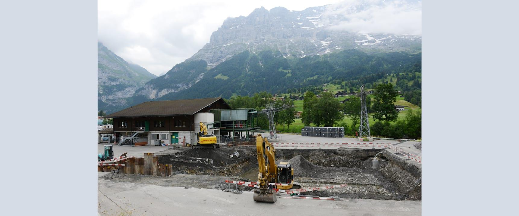 Baustelle V Bahn Grindelwald Grund