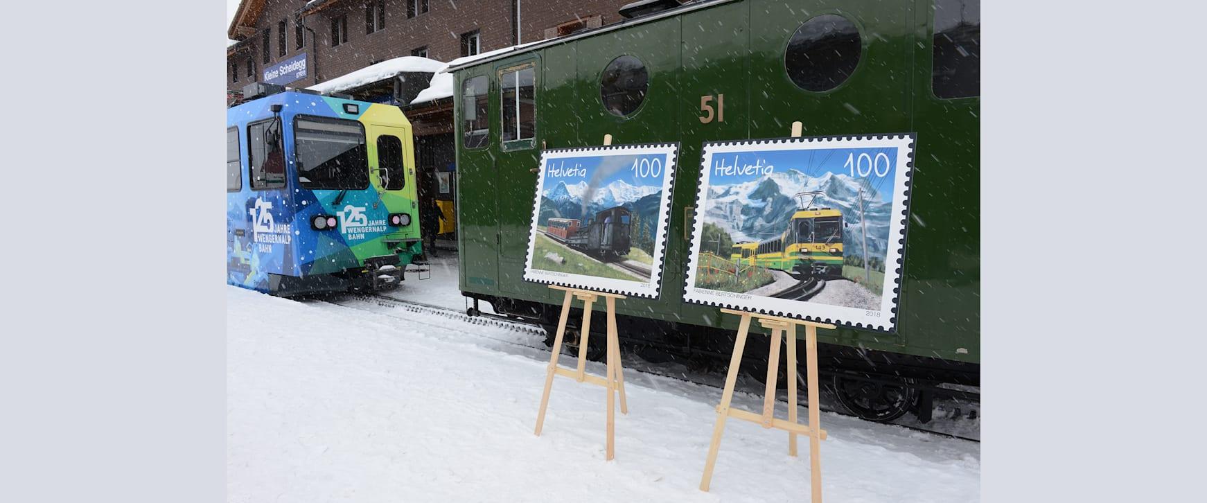 Die Briefmarken vor der WAB und der SPB