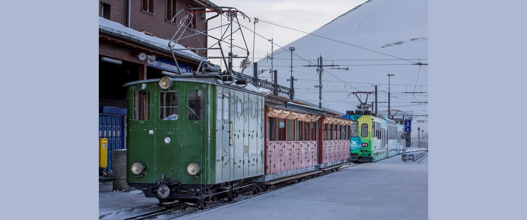 Die nostalgische Schynige Platte Bahn zu Besuch bei der WAB