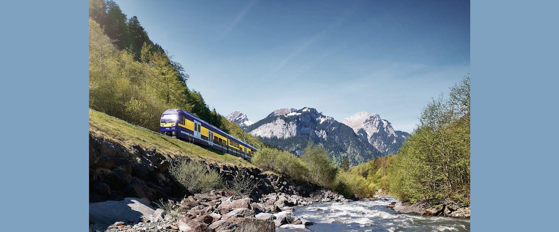 Berner oberlandbahn sommer natur