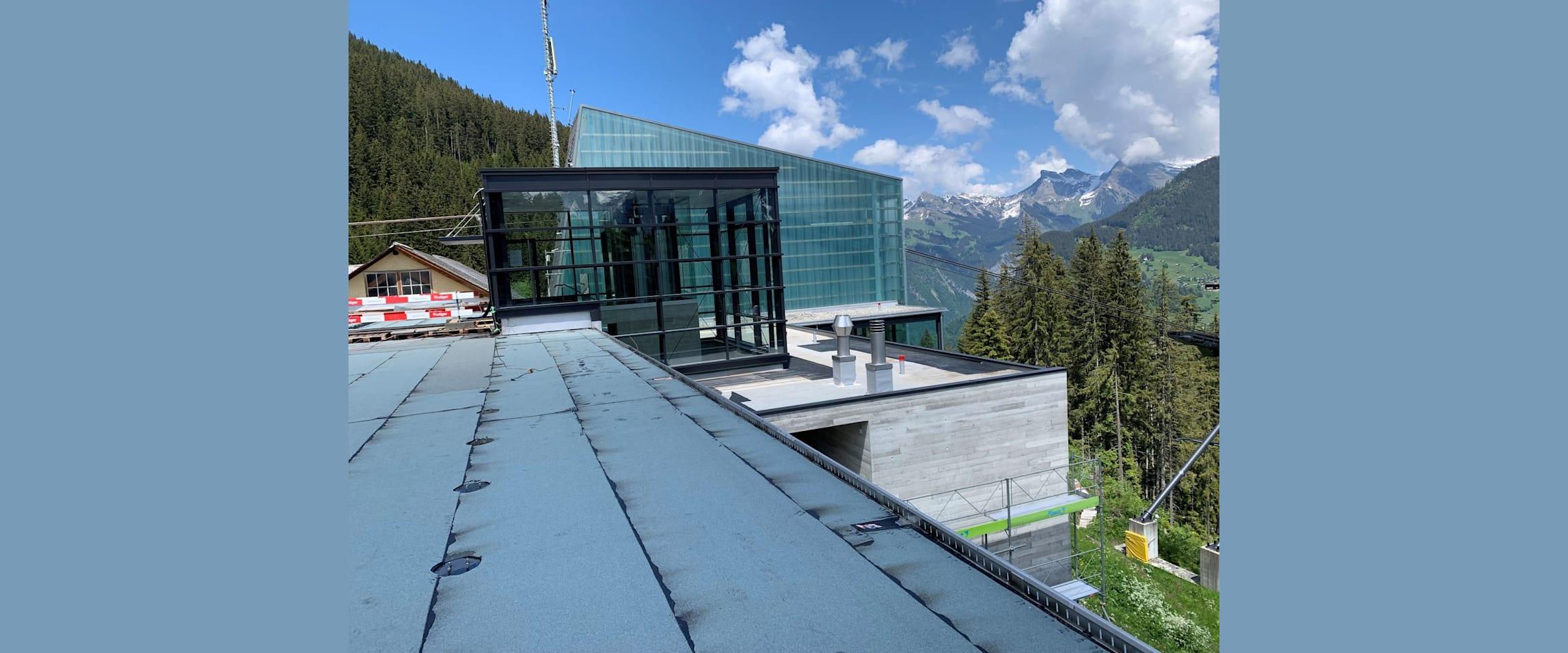 Grütschalp neuer Lift und Dach kl