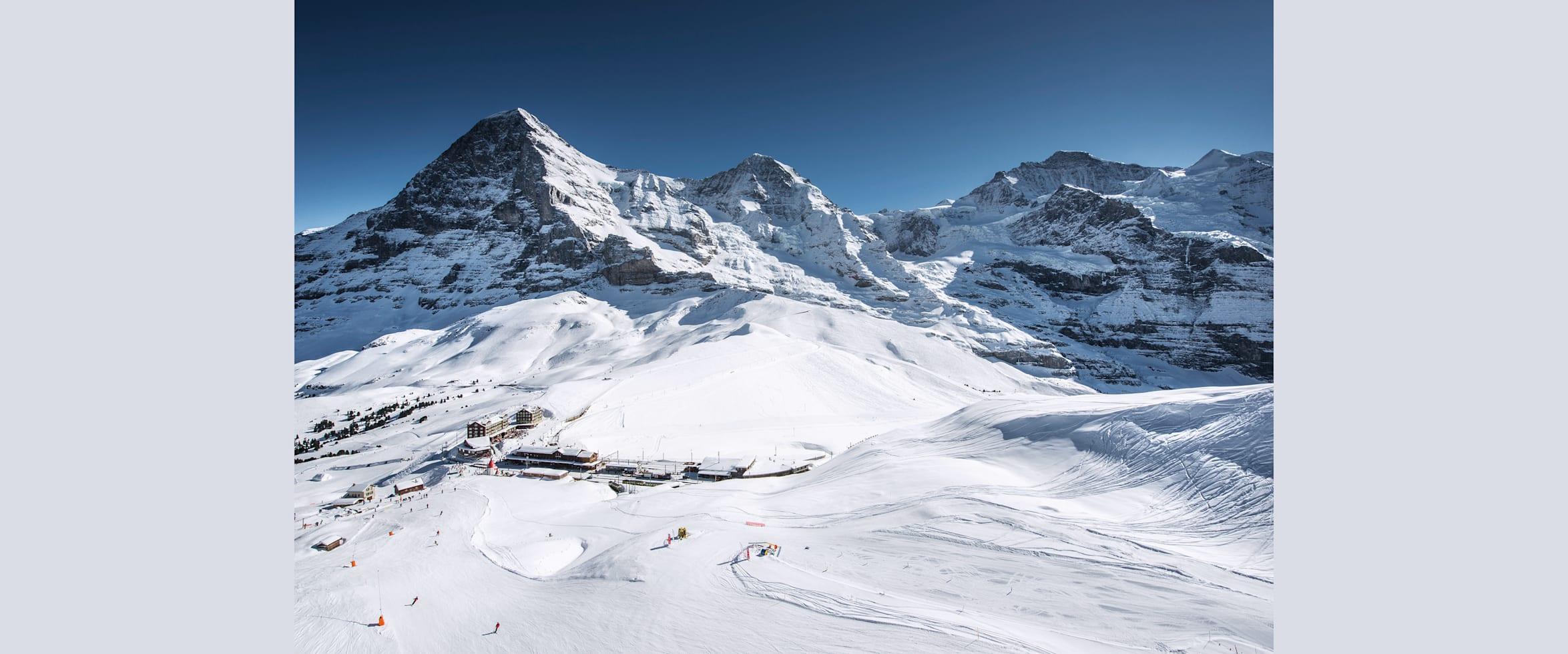 Ski fahren eiger moench jungfrau grindelwald wengen