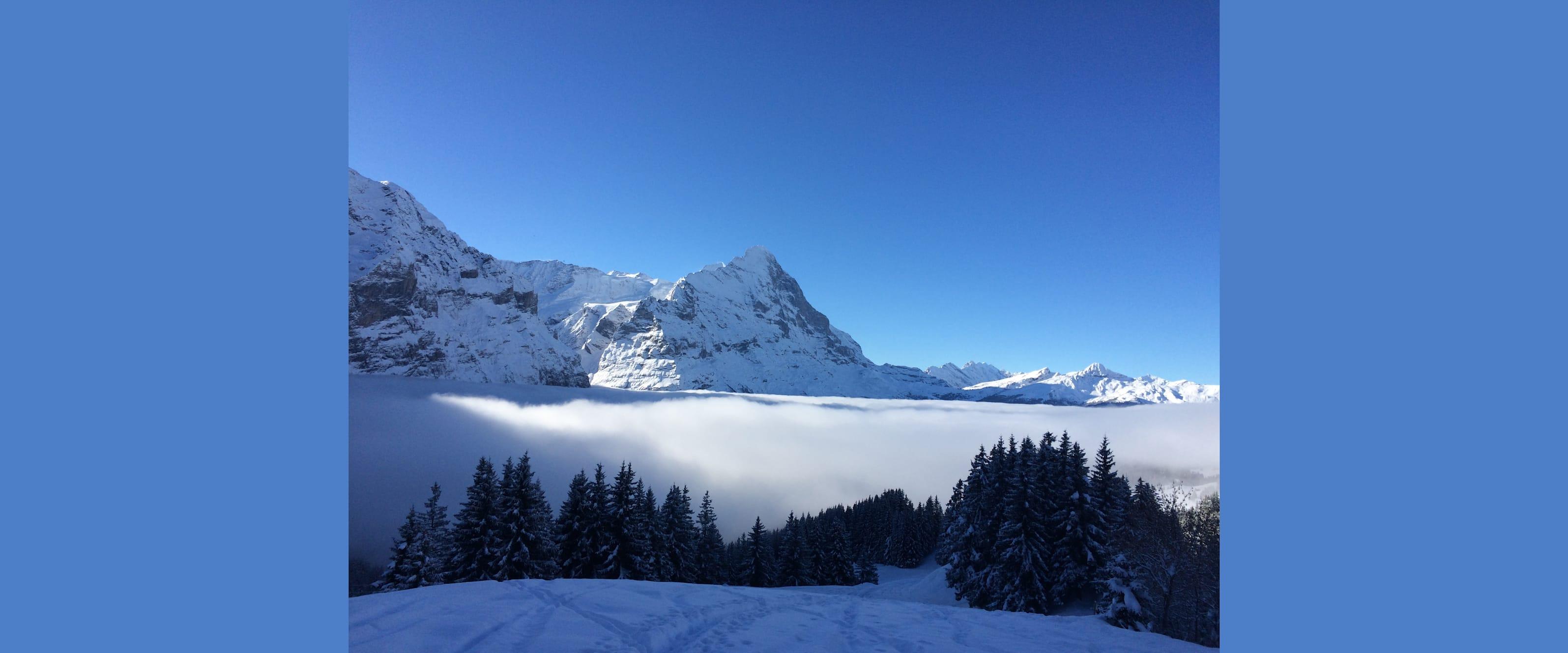 Viel Neuschnee Bild Skigebiet Grindelwald First