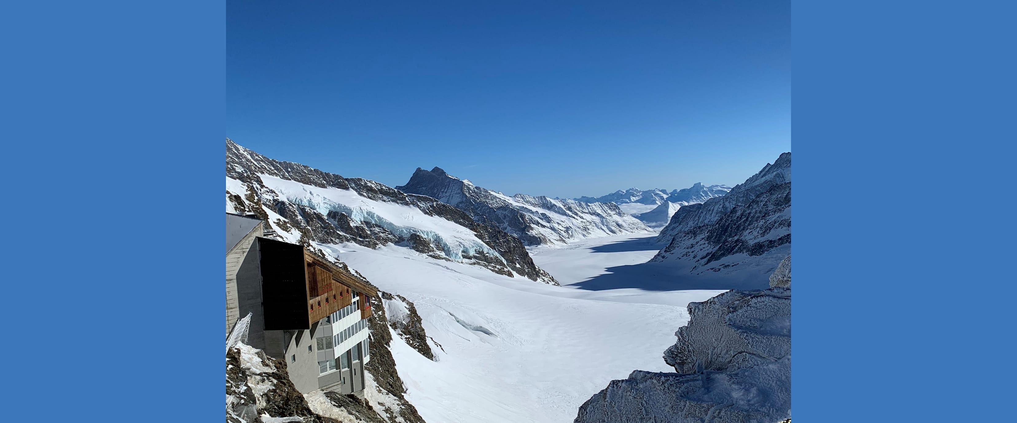 Jungfraujoch Berghaus Aletschgletscher klein