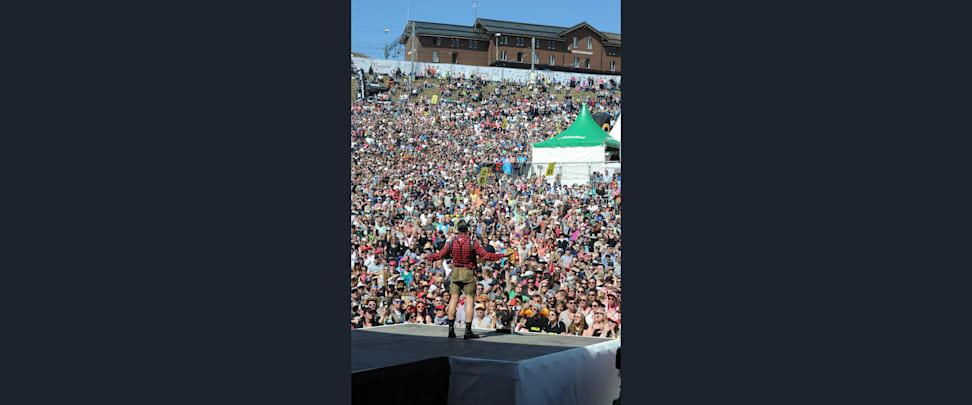 Gabalier mit 10 000 Fans