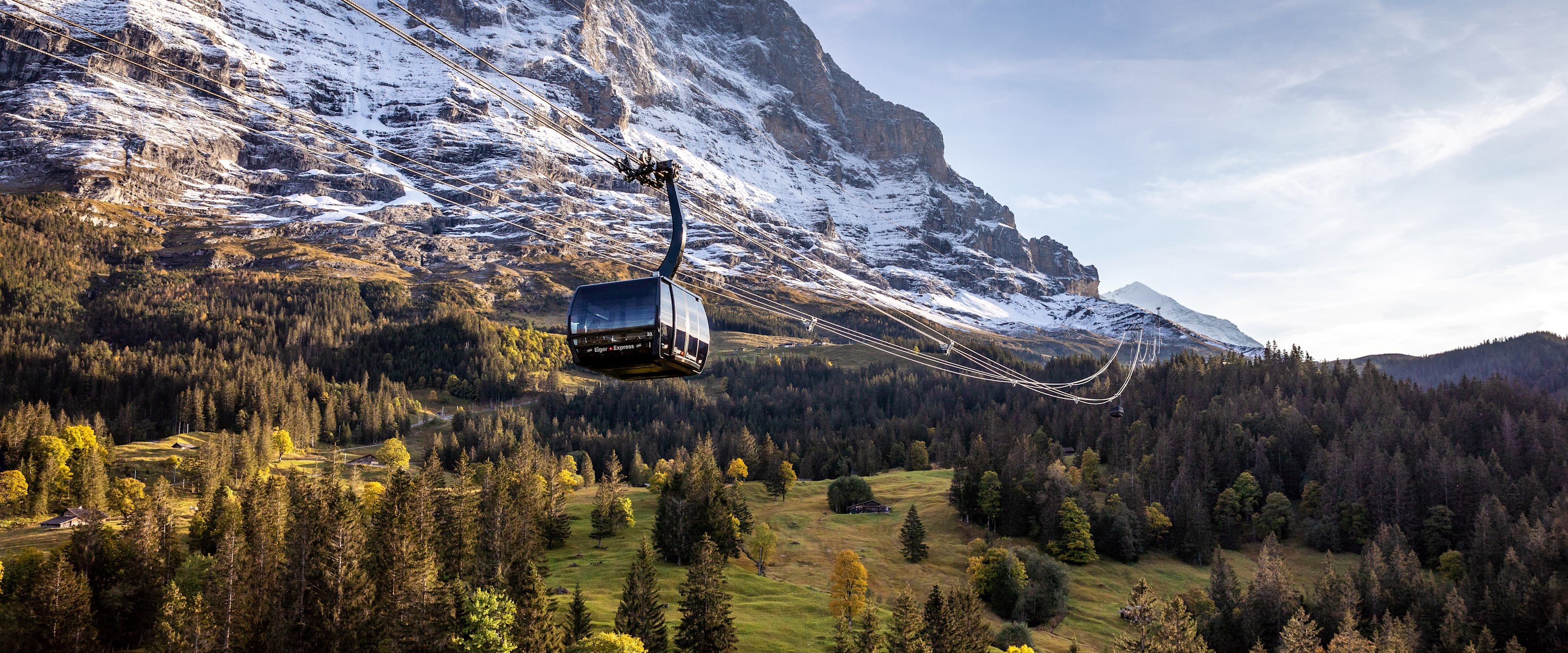 Abend-Morgenstimmung, Bahnen-Maschinen, Berge, Eiger, Eiger-Express, Herbst, Silberhorn, Sommer, V-Bahn, Verhältnisse