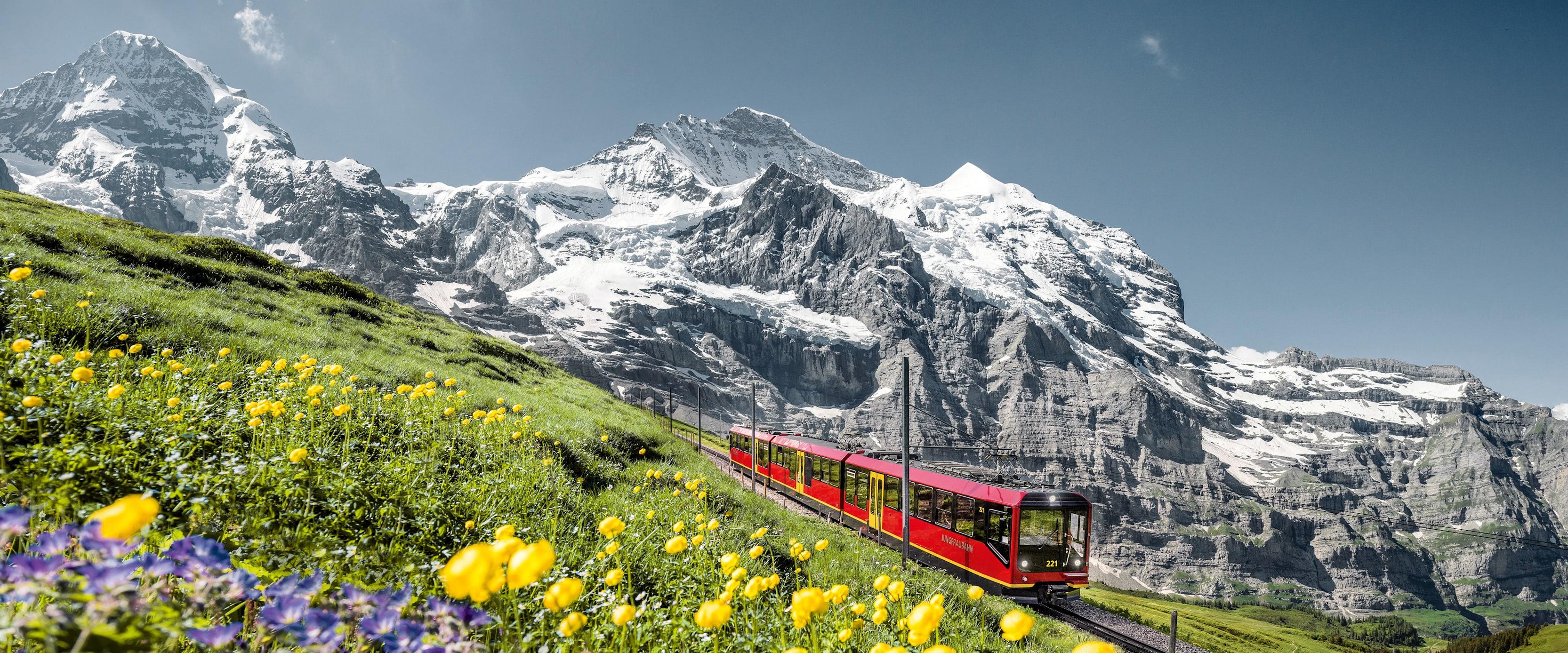 Jungfrau Railway moench jungfrau summer 03