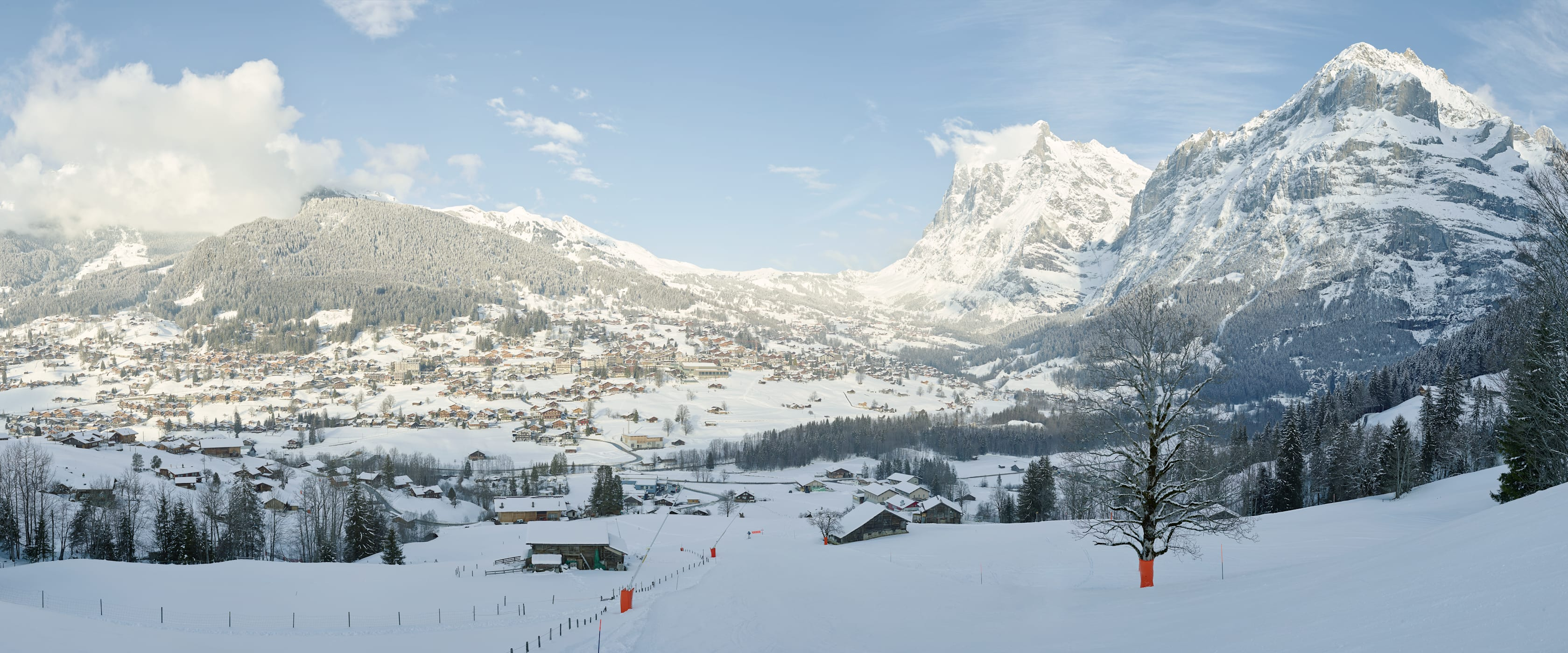 Grindelwald Winter Wetterhorn Mattenberg