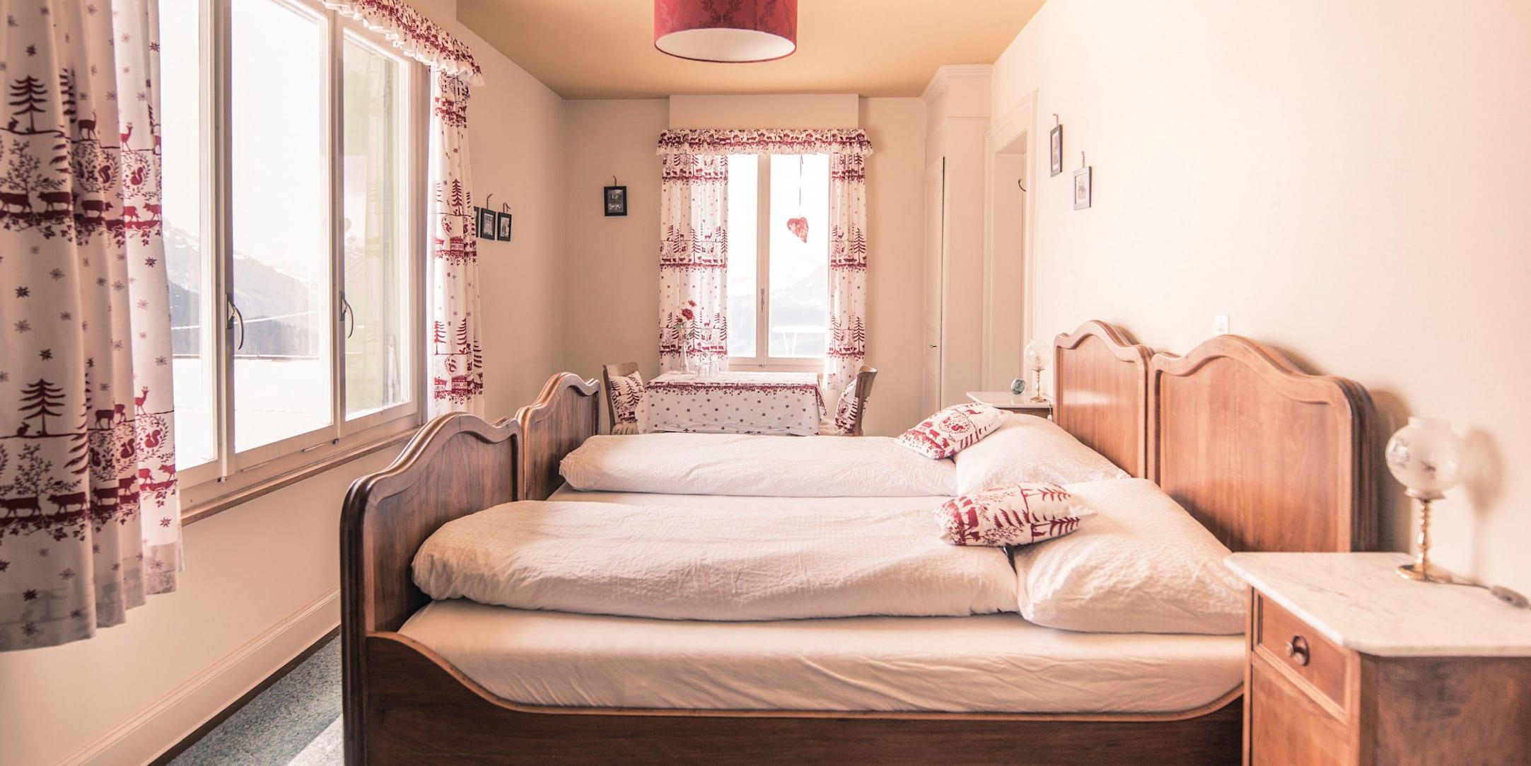 Berghotel schynige platte schlafzimmer 02