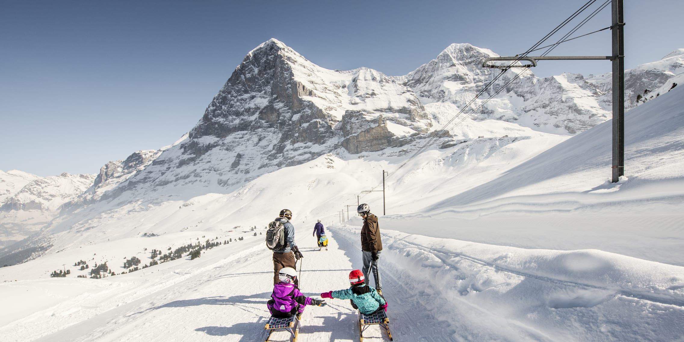 雪橇 雪橇滑道 艾格峰 北壁 家庭