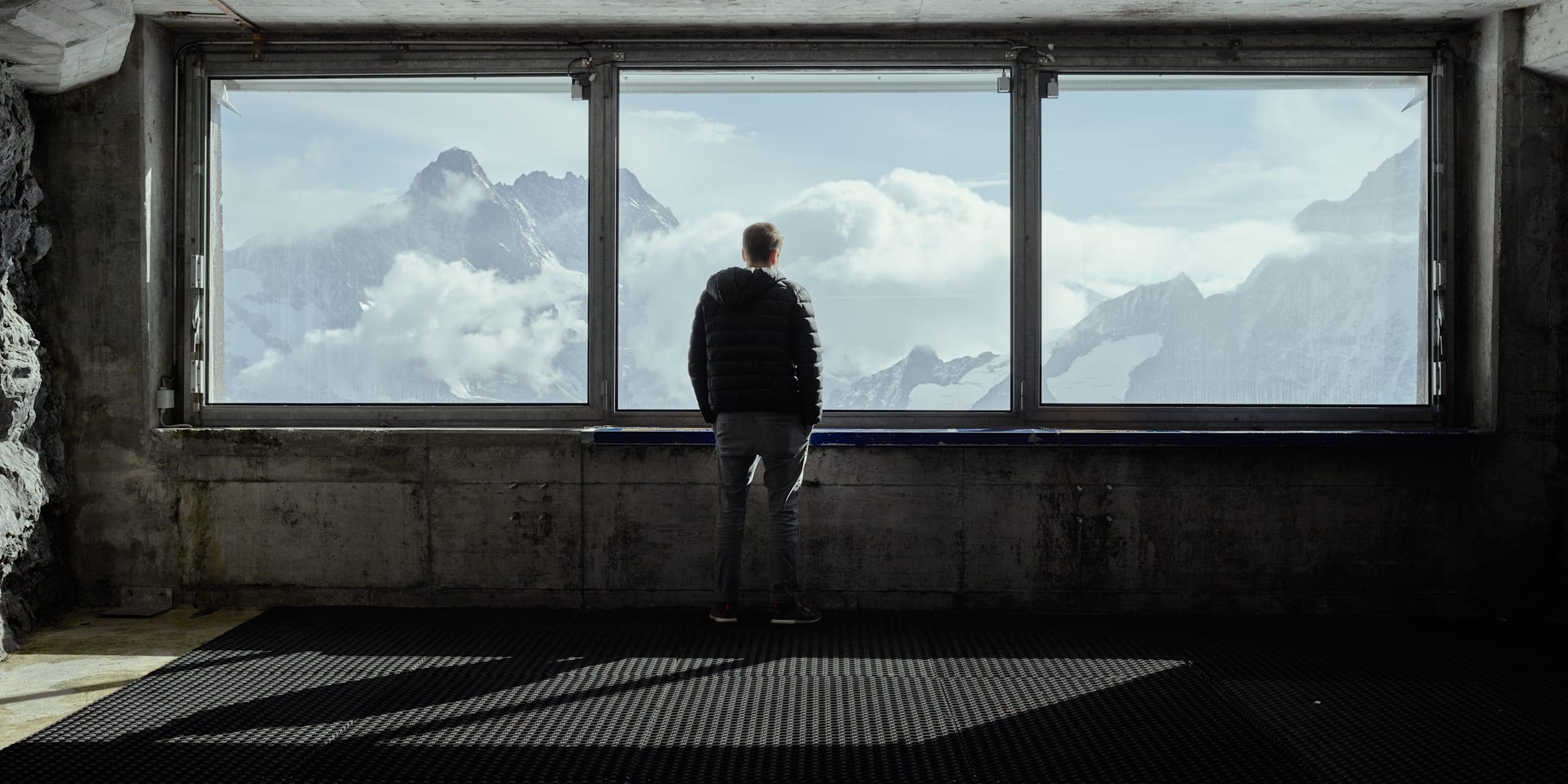 Jungfrau Railway station Eismeer (Sea of Ice) view Jungfraujoch