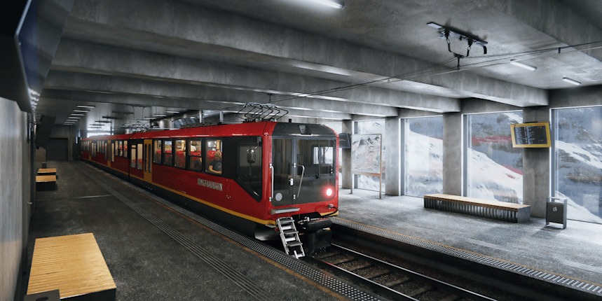 Station Eigergletscher Zug Jungfraujoch