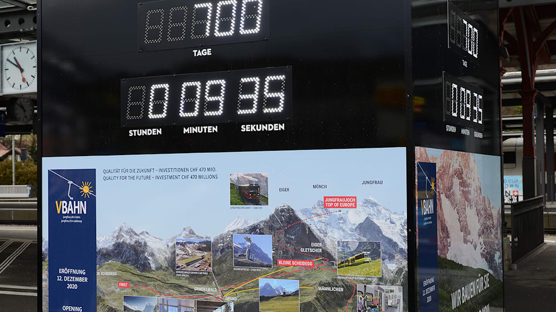 Countdown Clock mit Projektubersicht