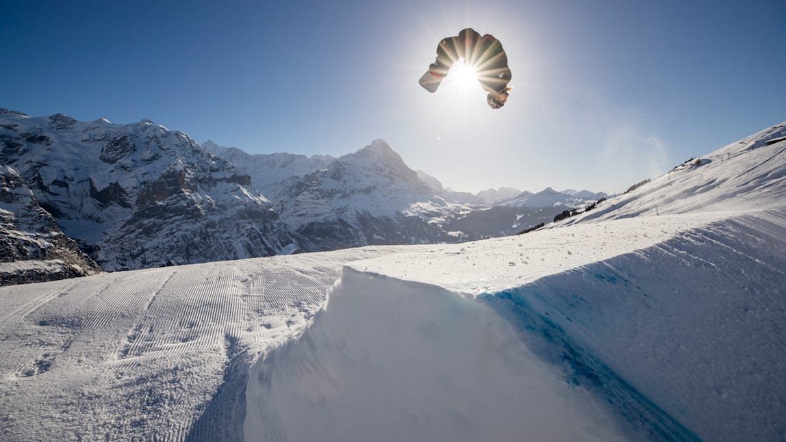 Grindelwald, Jungfraubahnen, hiver, White Elements, Freestylepark, Halfpipe, Eiger, First, Grindelwald First, Sports d'hiver, Freestyle