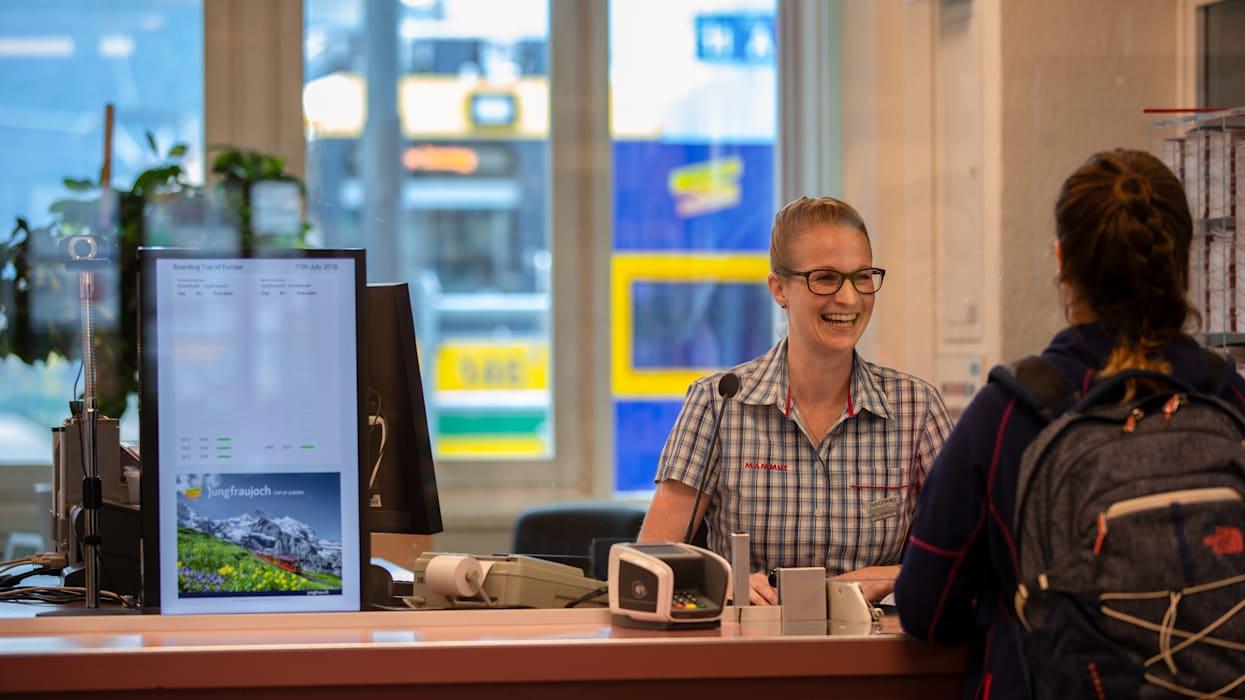 Franziska-Kaufmann, Mitarbeiter Jungfraubahnen