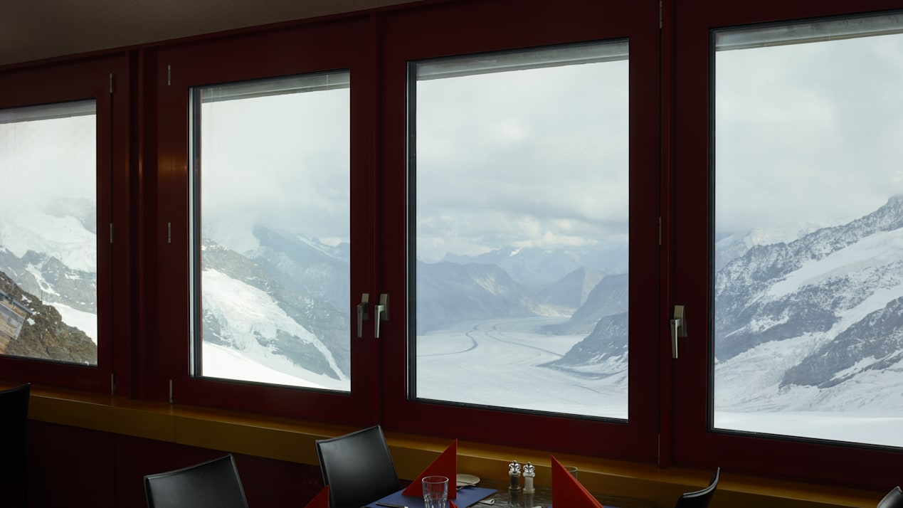 Jungfraujoch Restaurant Crystal Aussicht Aletschgletscher