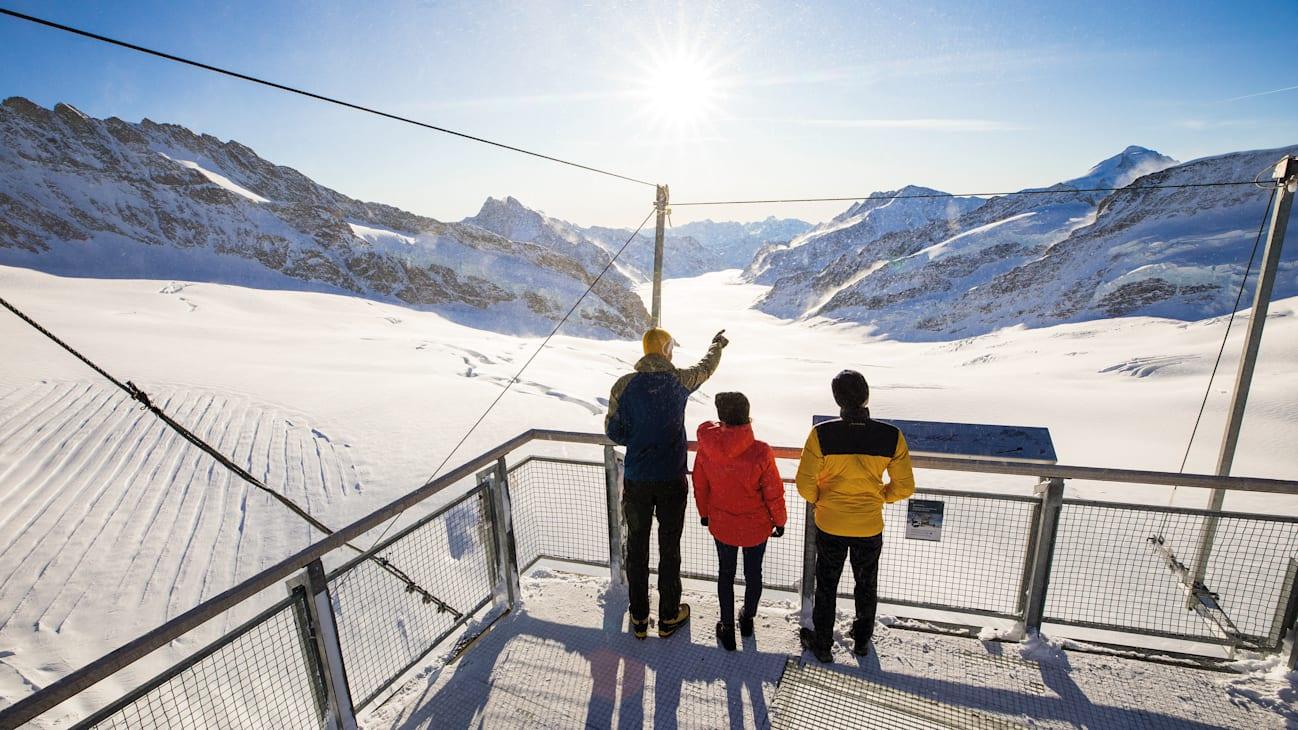Jungfraujoch Sphinx Terrasse Aletschgletscher
