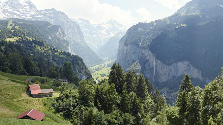Wengen Lauterbrunnental Sommer Panorama
