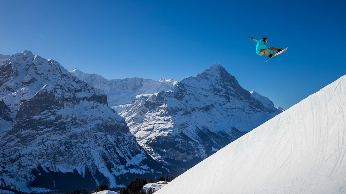 Erlebnisse-Aktivitaeten, Grindelwald, Halfpipe, Jahreszeit, Skigebiet-Grindelwald-First, Snowpark Grindelwald-First, Winter, jungfrau.ch