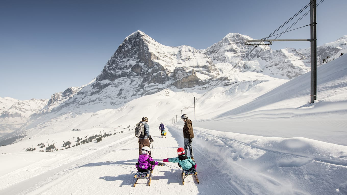 Sledging Sledging Trail Eiger North Face Family