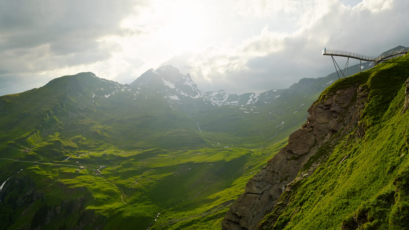 Grindelwald First Cliff Walk Panorama Alp Bachlaeger