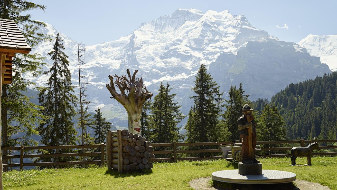 Winteregg Spielplatz Jungfrau Sommer