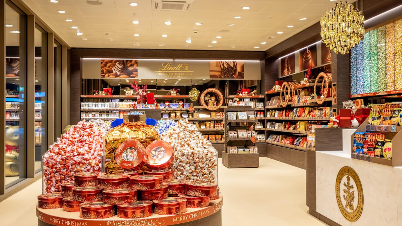 Grindelwald Terminal Lindt Shop Nahaufnahme