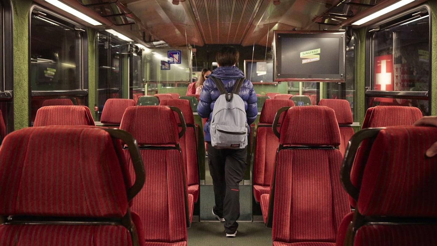 Jungfraubahn Sitze Innenaufnahme