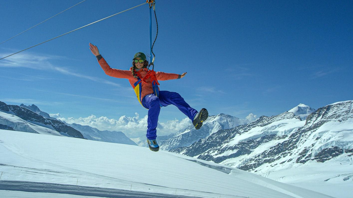 Jungfraujoch Top of Europe Snow Fun Park Zip Line