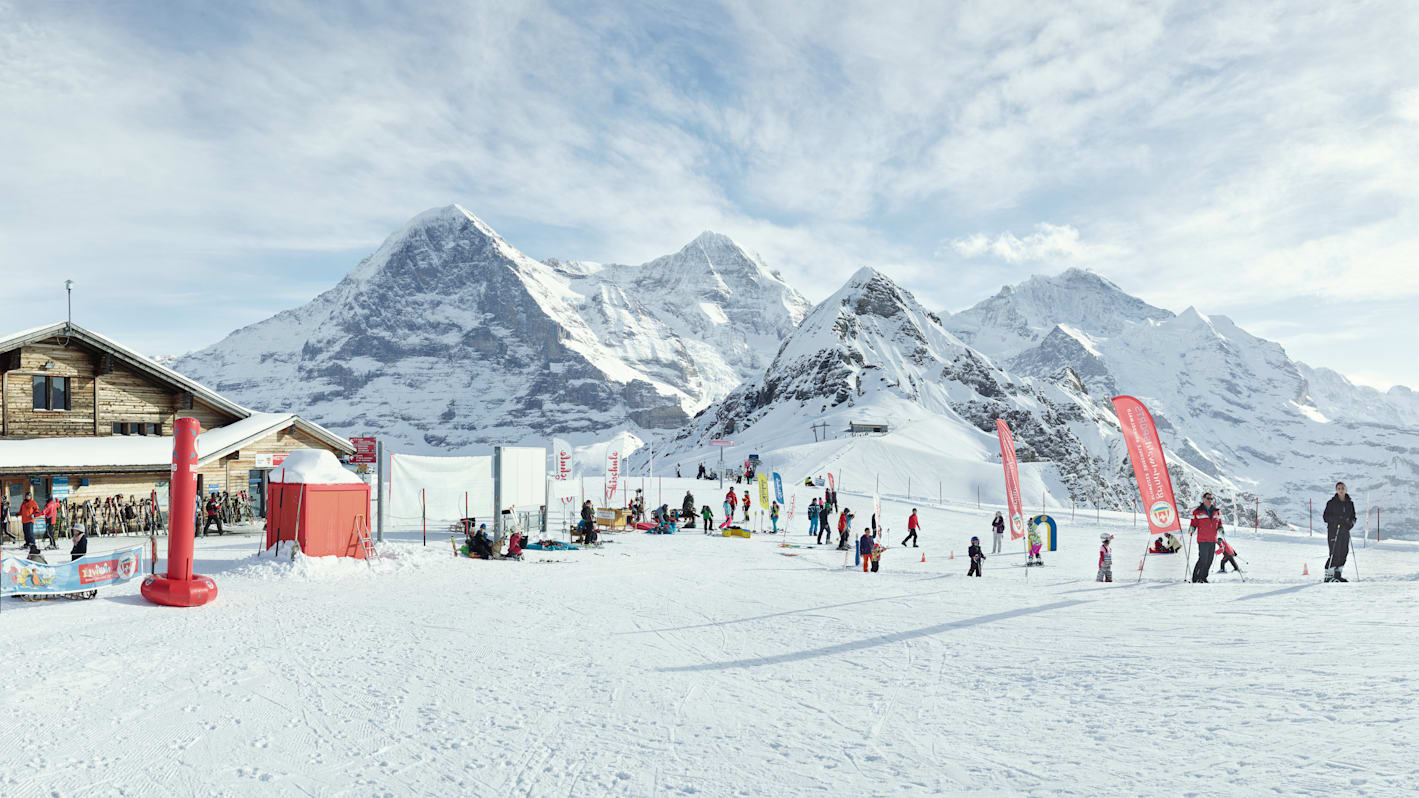 Skigebiet Grindewald Wengen Kinderparadies Männlichen