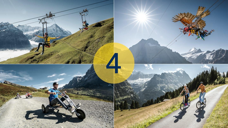 Adventure Packages Grindelwald First 4 Aktivitaeten