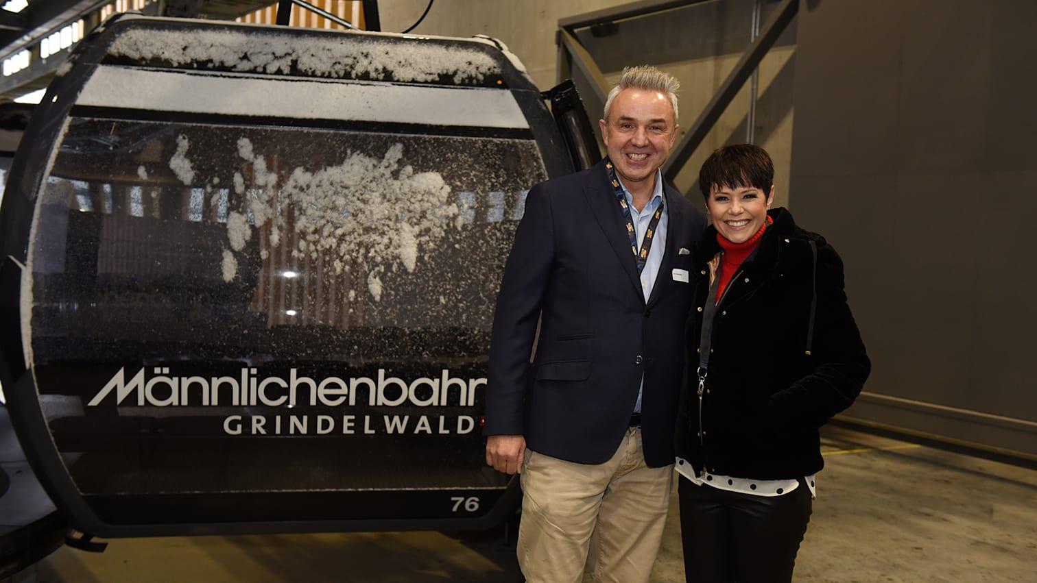 V Bahn Eroeffnungakt Urs Kessler und Francine Jordi