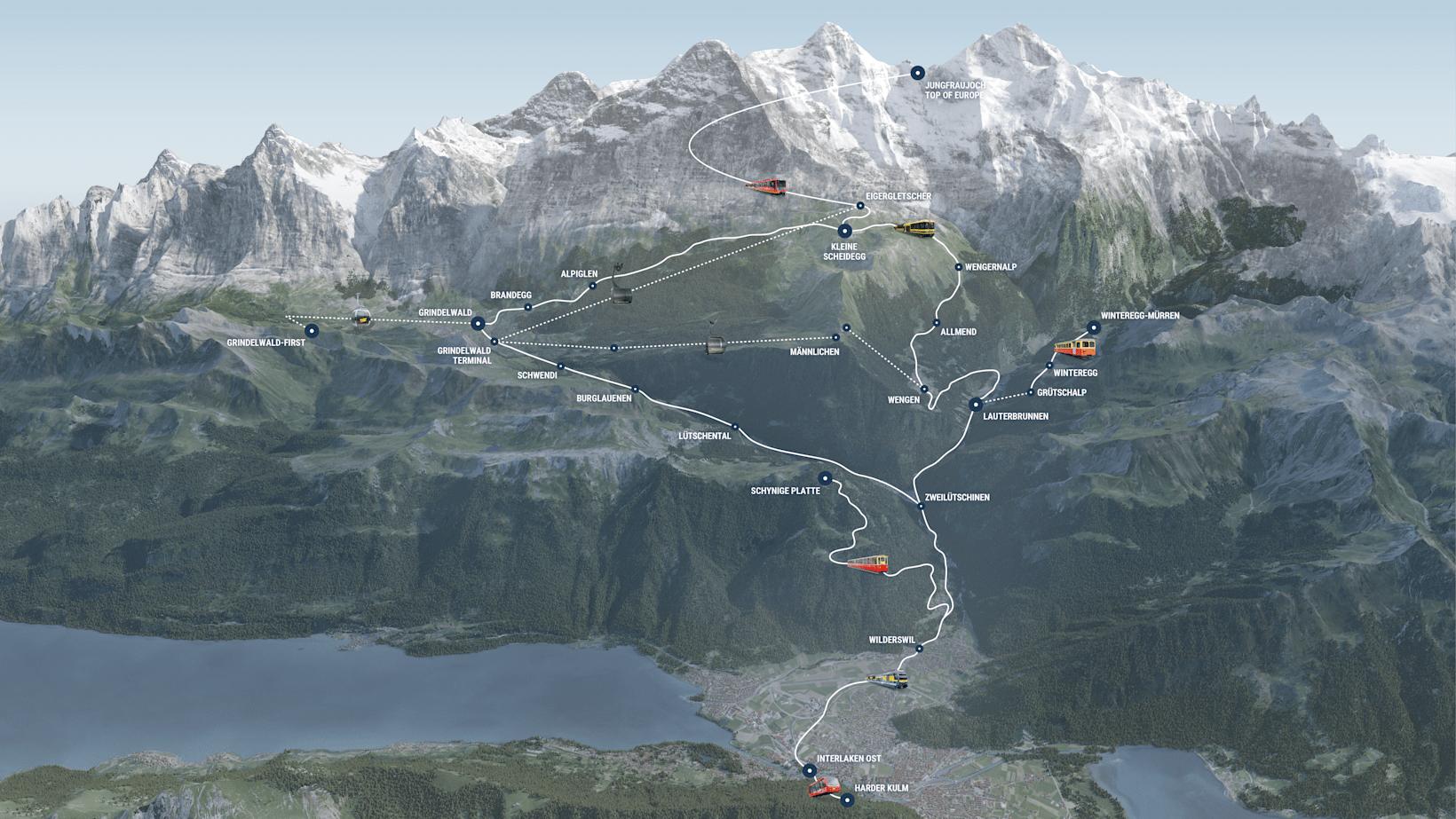 Geltungsbereich Top of Europe Pass