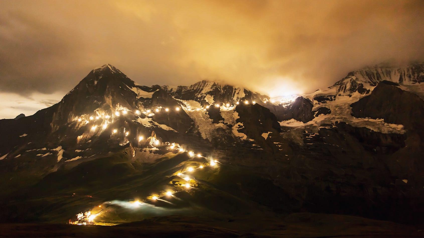 Lighting 100 years jungfrau railway kleine scheidegg events 4