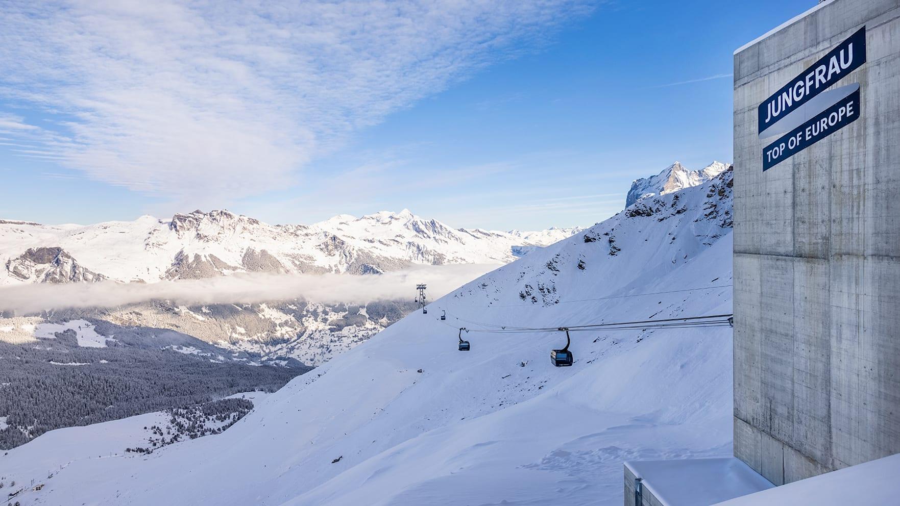 Eigergletscher Eiger Express Grindelwald Winter