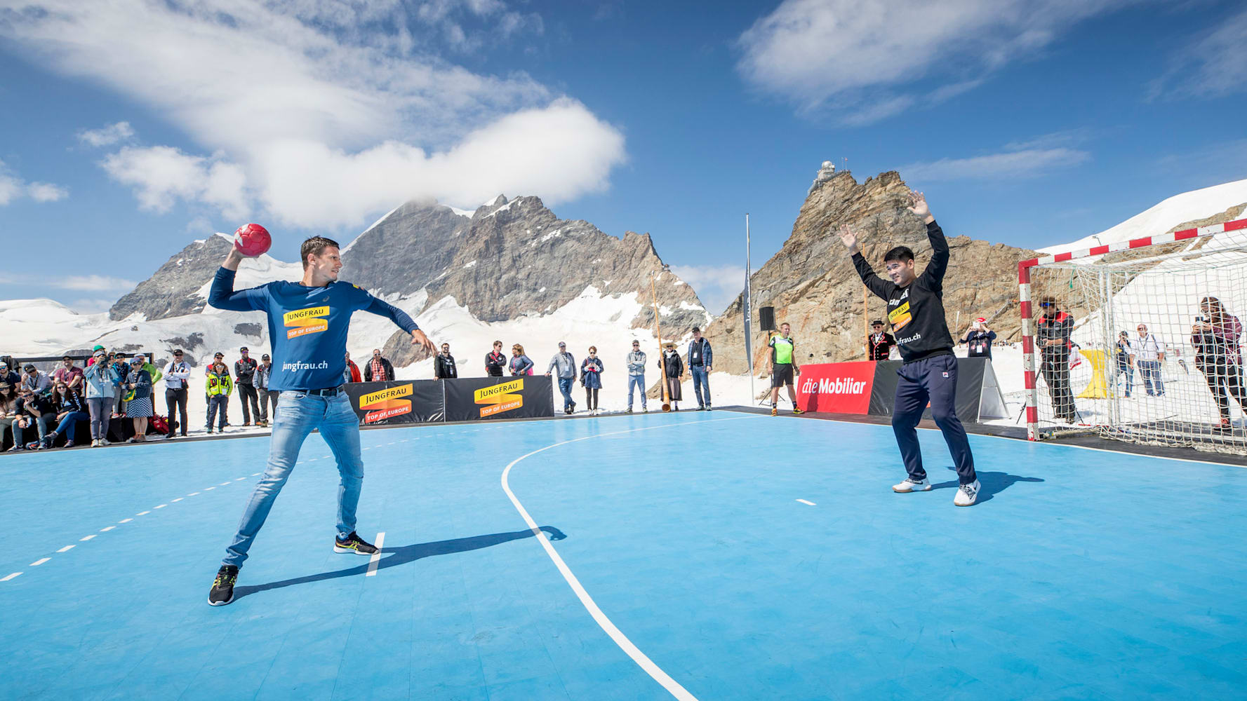 Handball 1 Andy Schmid beim Penalty Schiessen