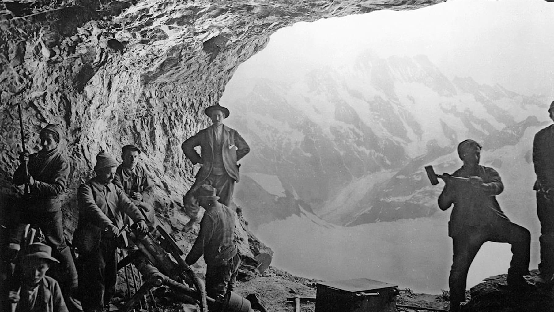 Bau der Jungfraubahn06
