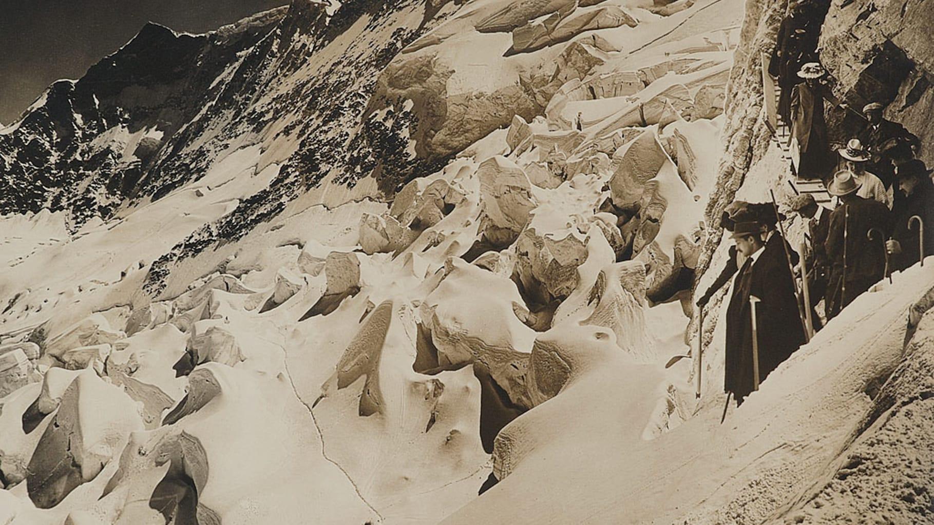 Bau der Jungfraubahn01