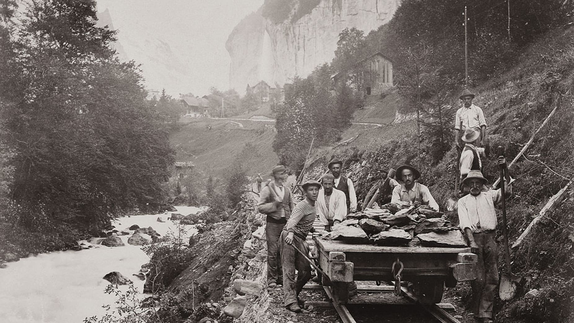 Bau der Jungfraubahn11