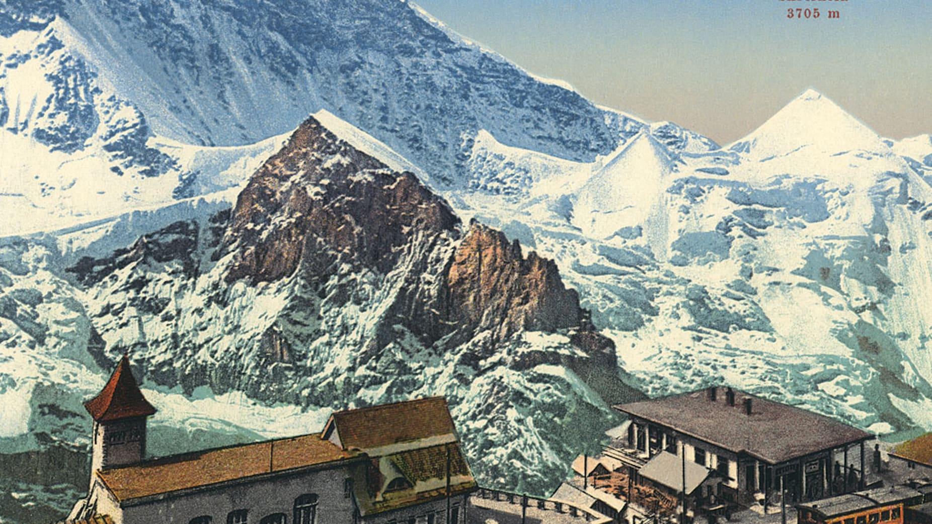Bau der Jungfraubahn37