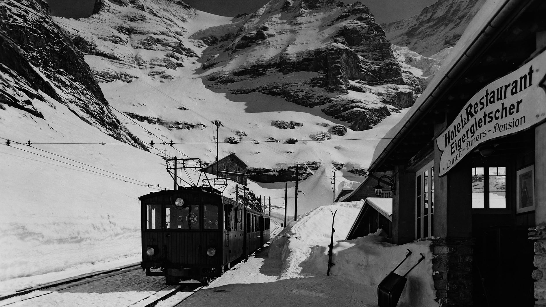 Jungfrau bahn nostalgie eigergletscher toursimus winterbetrieb