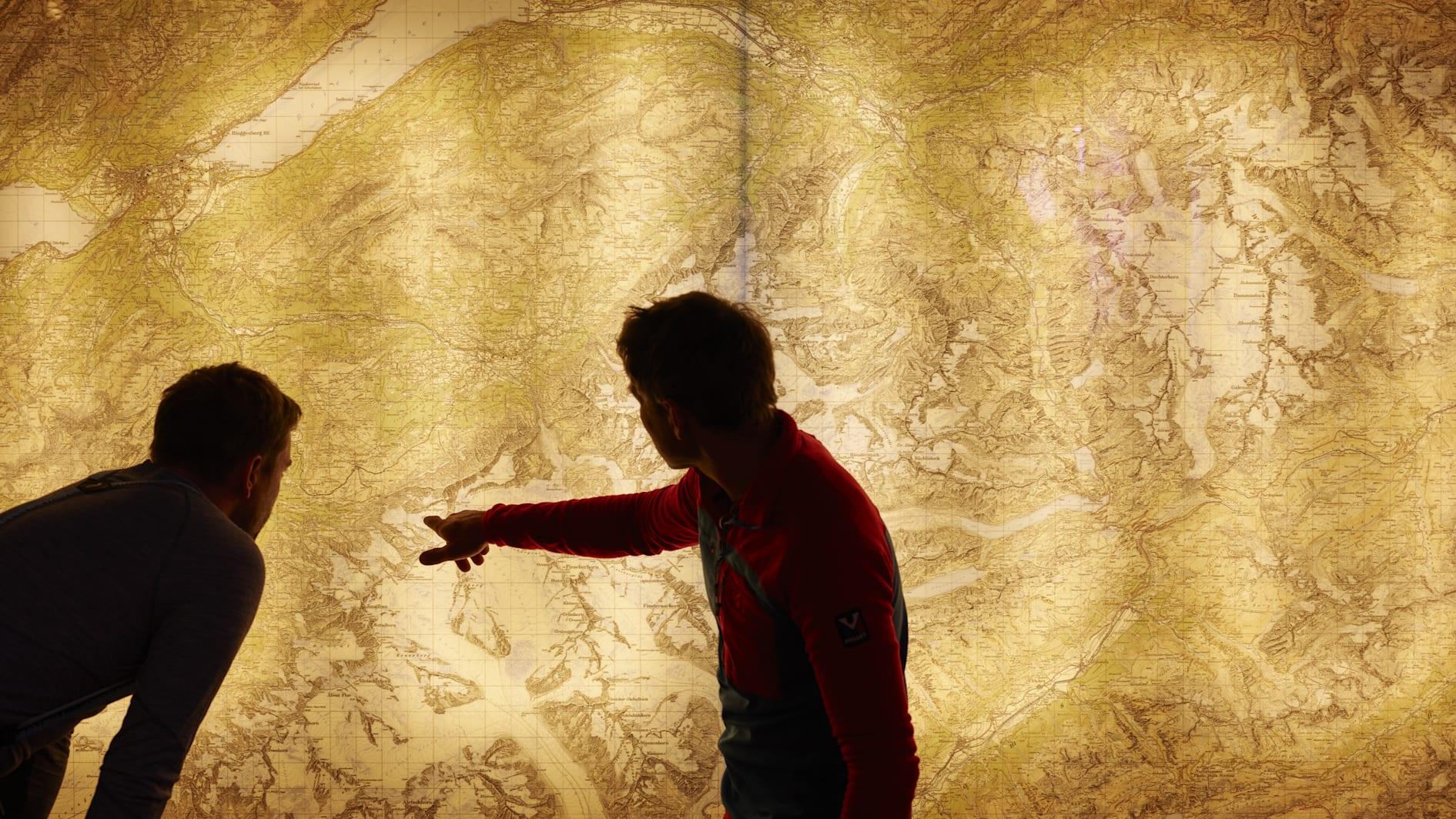 Landkarte Berner Oberland Bergfuehrer