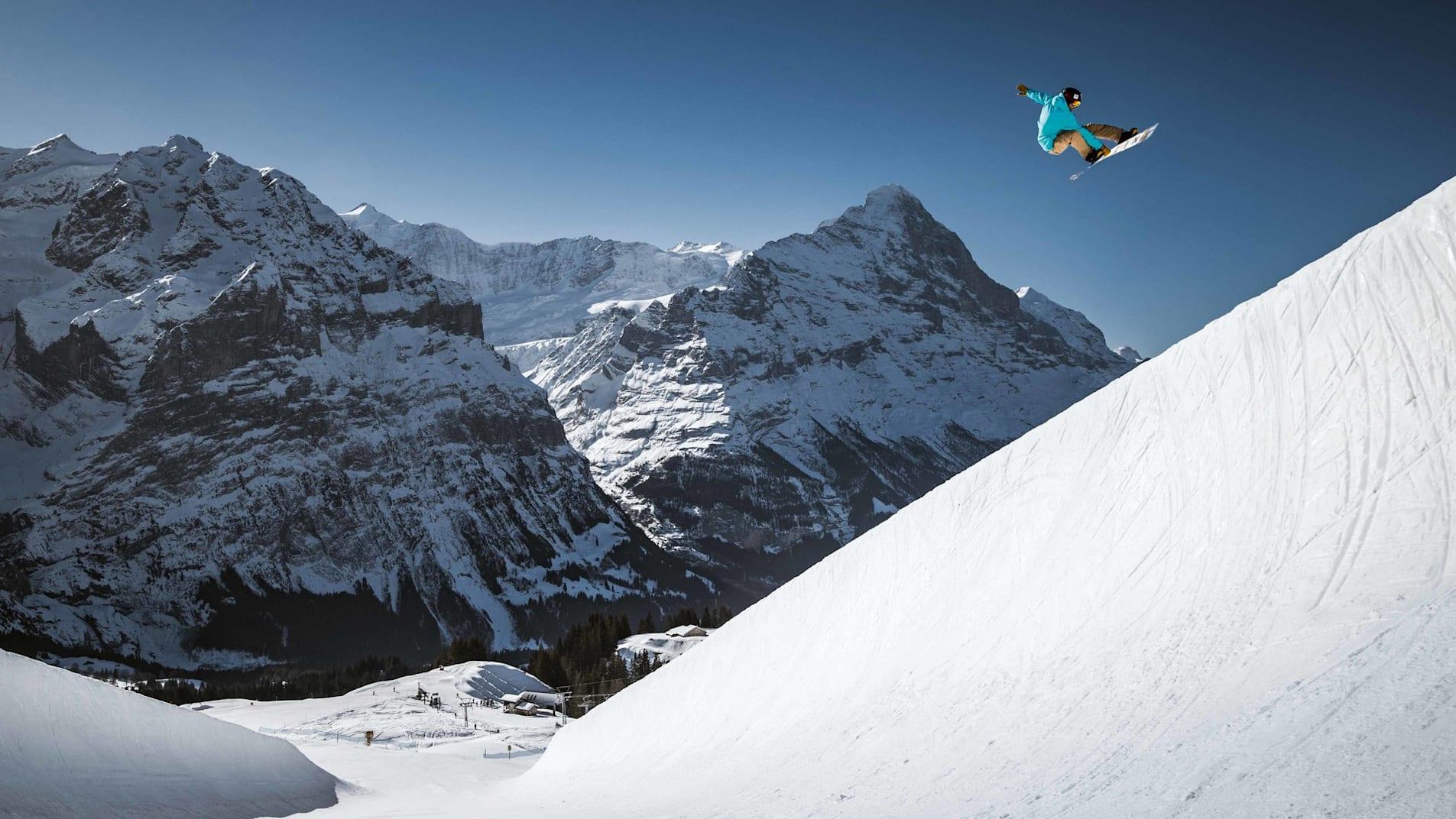 Grindelwald, Jungfraubahnen, Winter, WhiteElements, Freestylepark, Halfpipe, Eiger, First, Grindelwaldfirst, Wintersports, Freestyle