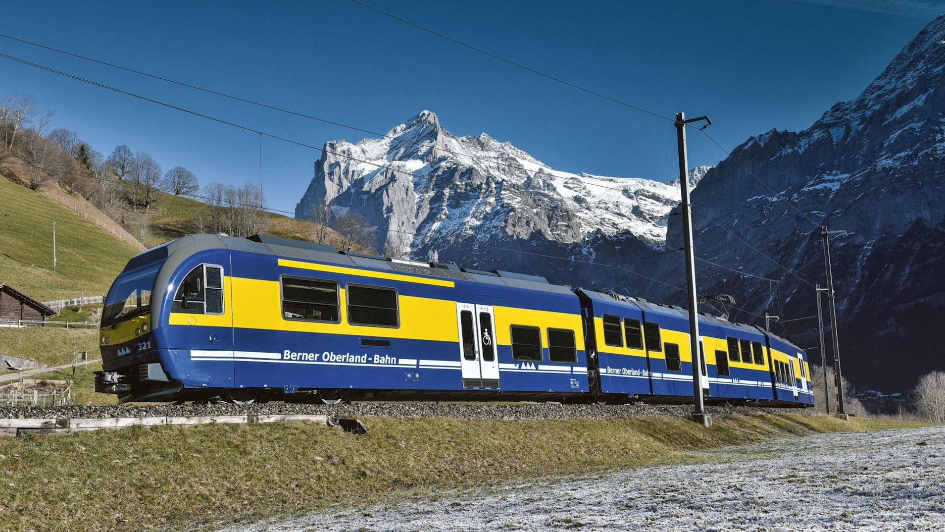 Berner oberlandbahn wetterhorn sommer