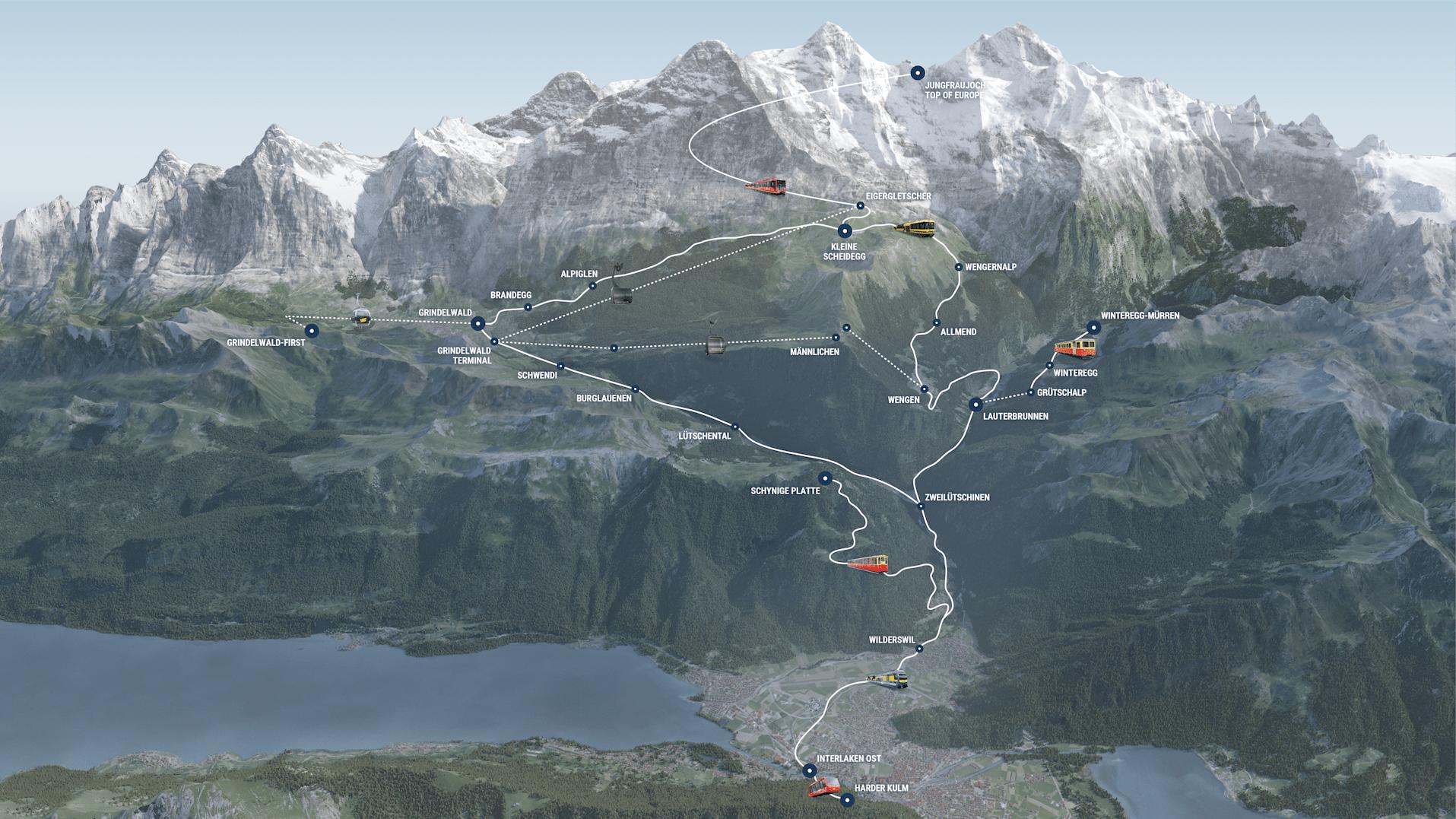 Top of Europe Pass Geltungsbereich