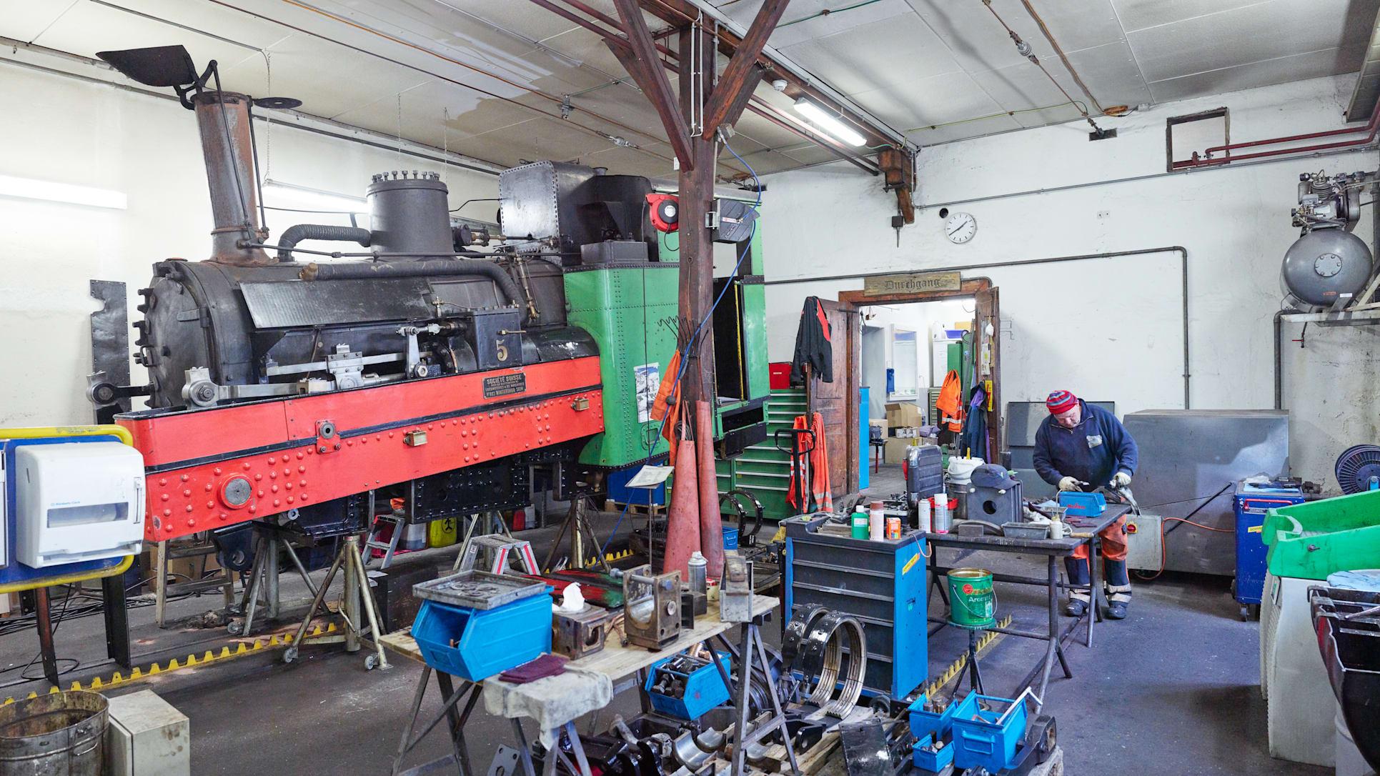 Schynige Platte Bahn Werkstatt Dampflokomotive
